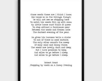 Robert Frost Print | Literature Poster, Love Poem, Robert Frost Art,Poem Print, Literature Art, Literature Print, Book Art, Typewriter Quote