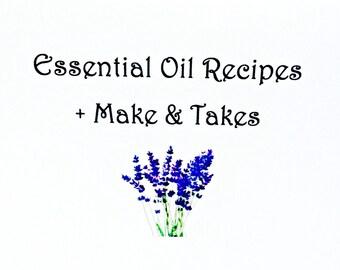 Essential Oil Recipes + Make & Take Idea Book PDF format