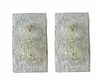 Murano glass textured wall sconces