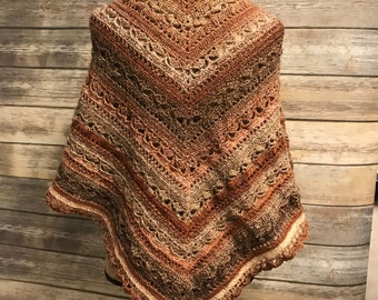 Dessert River Triangle Shawl