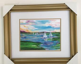 Pastel Sail print