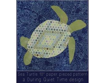 "Sea Turtle 10"" Paper Pieced Pattern"
