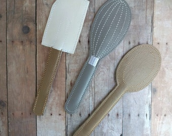 Ready to Ship Play Spatula, Whisk & Spoon, Made of Vinyl, Pretend Kitchen Utensil, Play Food, Pretend Play, Play Kitchen Accessories