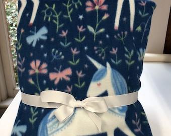 Unicorn Throw Blanket Tie Kit