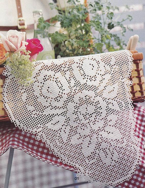 Patrón de Burda especial E659_01 filete oval crochet encaje