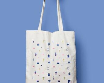 Nantes Tote bag - Canvas bag - Coton bag -  Artwork - Vinyl transfer - Print