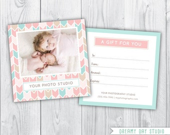 photography gift certificate / gift certificate / gift certificate design / gift certificate template / photographer gift certificate
