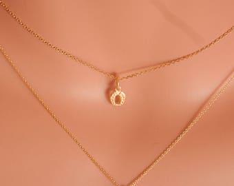 tiny horseshoe necklace gold horseshoe necklace dainty gold horseshoe necklace tiny horseshoe charm horseshoe pendant lucky horseshoe charm