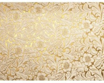 Luxury Damask Printed Paper in Gold or Silver