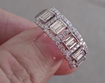 1 Carat Baguette Diamond Band Ring - 14K White Gold