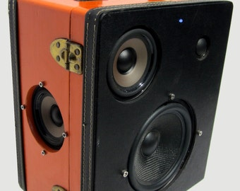 """SOLD Vintage Liquor Travel Case Boombox MP3 Player """"MIGHTY MOUSE 2"""" by Hi-Fi Luggage"""