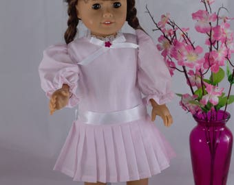 Pink Spring Dress /Easter Dress /American Girl Doll /18 inch Doll