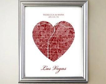 Las Vegas Heart Map