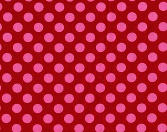 Michael Miller Ta Dot Berry fabric - 1 yard