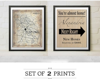 AMC's The Walking Dead TV Replica Prop Terminus Map and Alexandria Season 5 and 6 Signs