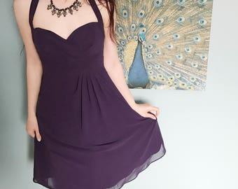 Retro Inspired Halter Alfred Angelo Bridesmaid Dress