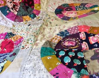 i-Spy lap quilt, baby blanket, Girls Patchwork Quilt, Patchwork Blanket, Hand Quilted, Bright and Fun, I-Spy quilt, Story Time Nursery Decor