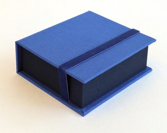 Instax Square SQ Photo Box | Display Box | Handmade using imported bookcloth |  Graduation Gift | Keepsake Album | Blue