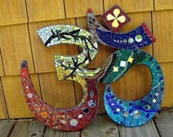 "Custom Om Mosaic Ooak Made to Order 21"""