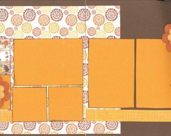 12x12 FALL scrapbook page kit, premade scrapbook, 12x12 premade scrapbook page, premade scrapbook page, 12x12 scrapbook layout