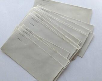 19 Vintage Business Sized Envelopes