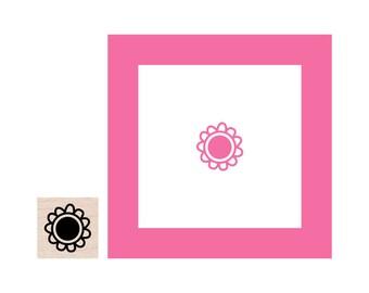Mini Flower Rubber Stamp
