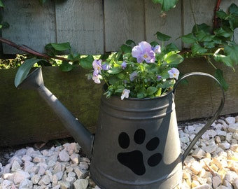 Rustic Green Watering Can
