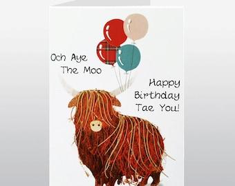 Scottish Birthday Och Aye The Moo Card WWBI113