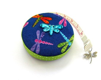 Pocket Tape Measure with Dragonflies Retractable Measuring Tape
