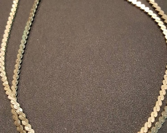 30 inch gold tone vintage chain