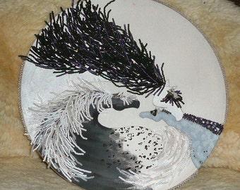 Beaded Wall Hanging - Spirit Herd Conversation