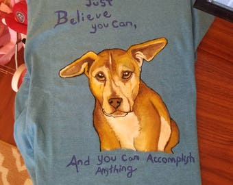 Custom pet portrait or animal t shirt