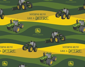 John Deere Fabric Nothing Runs Like a Deere Fabric From Springs Creative 100% Cotton