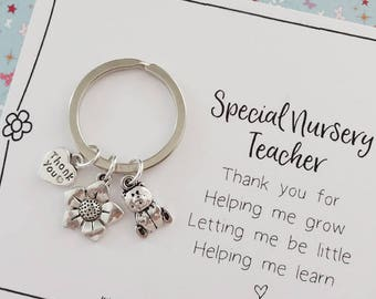 Thank you Nursery Teacher keepsake gift