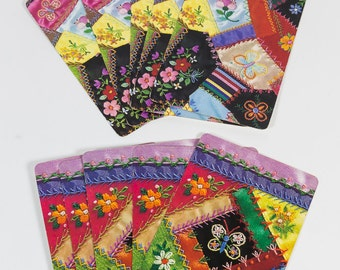 Playing cards, 10 cards, bridge cards, trading cards, craft supplies, card swap, quilt, quilter