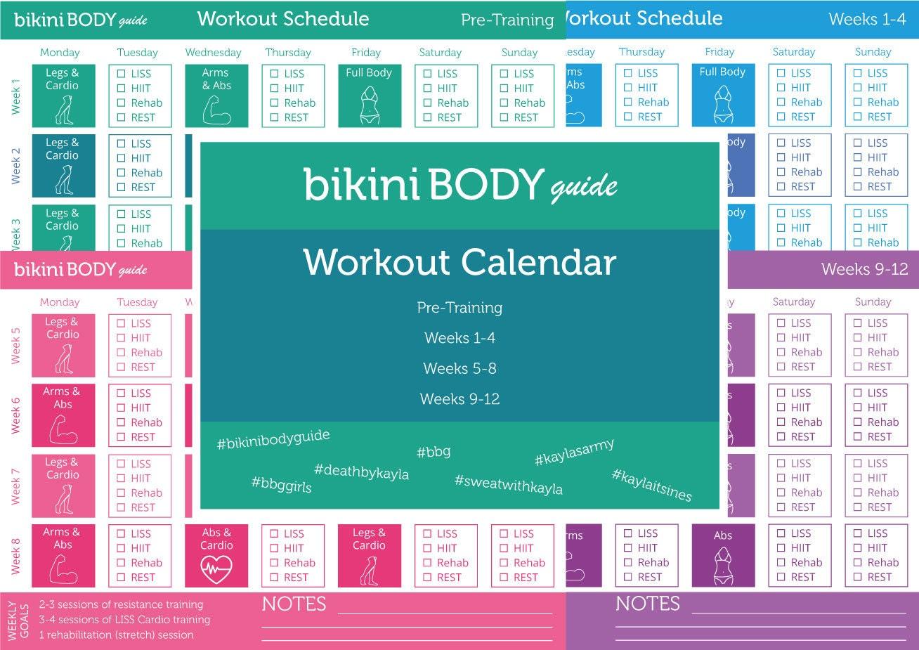 bikini body guide workout calendar. Black Bedroom Furniture Sets. Home Design Ideas