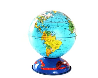 Vintage World Globe Bank