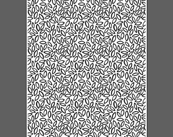 Scattered Seeds small - laser engraved texture sheet for rolling mill and metal clay