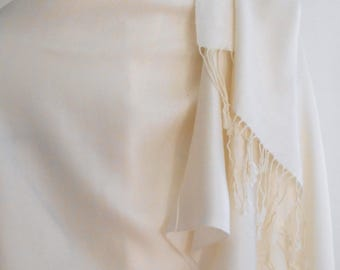 Festival Shawl,Cashmere Shawl,SNOW White Pashmina,White Shawl,Wedding shawl,  Wedding Wrap,White wedding Scarf,Bridesmaid Gift,Wedding Shawl