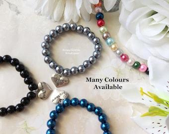 Boy Bracelet-Ring Bearer Gift-Page Boy Gift-Boy Wedding Gift-Boy Jewelry-Ring Bearer Bracelet-Boy Black Bracelet-Boy Silver Bracelet