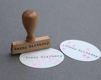 Stamp Happy Birthday- Typo 5 Happy Birthday