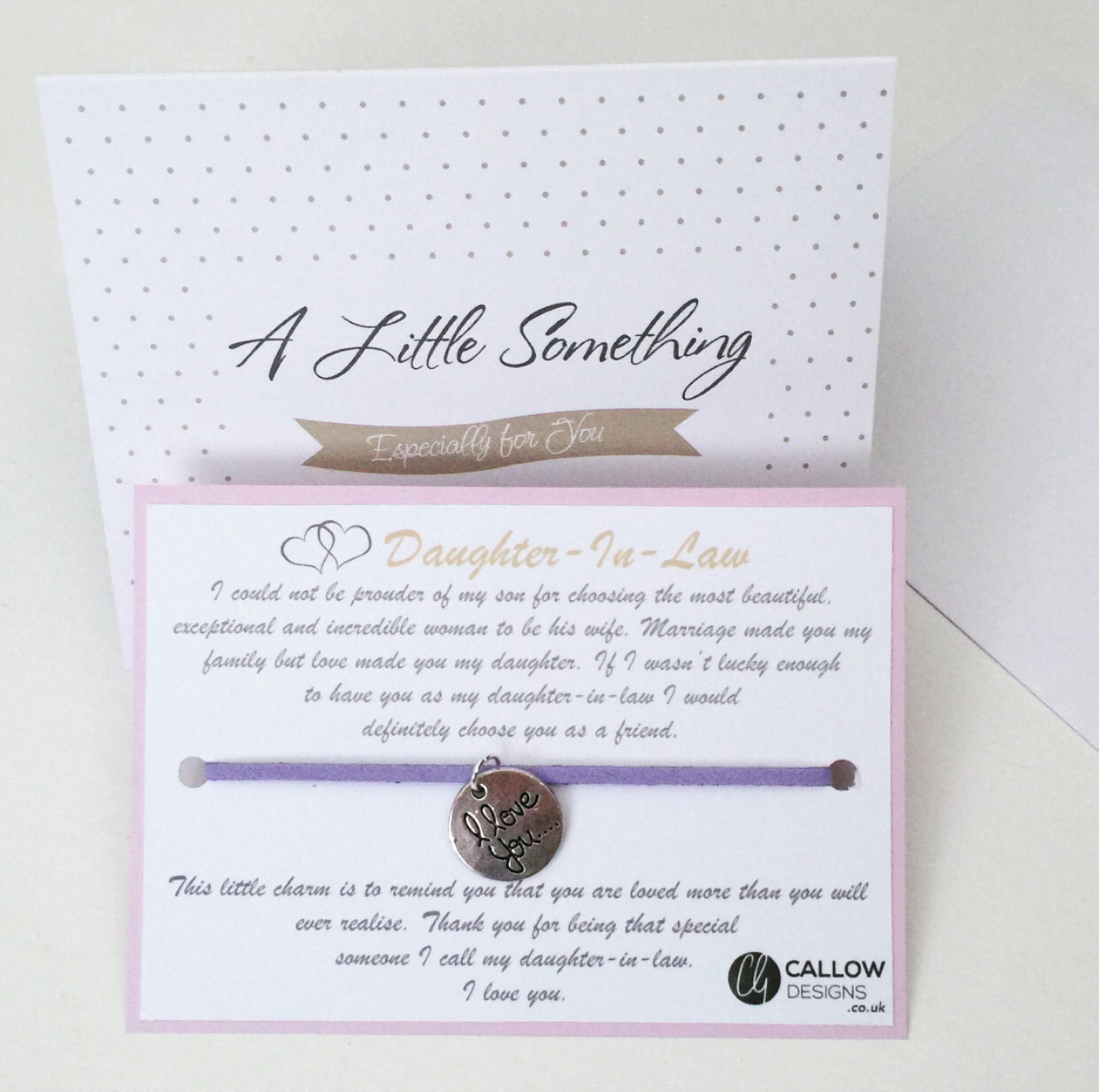 Daughter in law i love you greetings card charm wish bracelet daughter in law i love you greetings card charm wish bracelet meaning quote colour silver family callow designs sisters bond small gift stopboris Choice Image