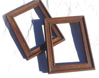 Par de marcos de madera