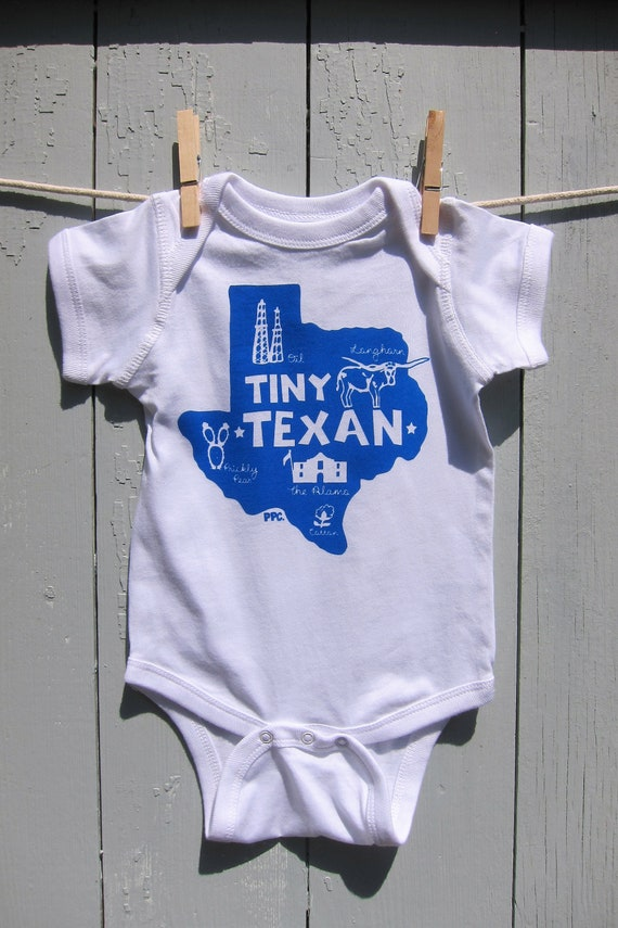 The Tiny Texan Baby Romper/Bodysuit - Complete Gift with Card, Gift Wrap and Shipping Included