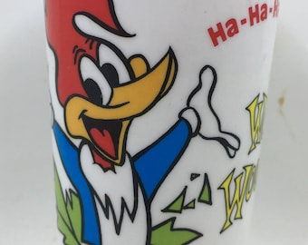 Vintage 80s Deka Cup Woody Woodpecker Tumbler