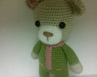 Sleepy bear, amigurumi, handmade, toy,crochet toys