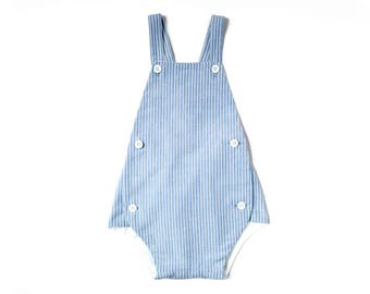 Toddler Boy Sunsuit | Boys Romper | Toddler One Piece Outfit| Baby Shower Gift | Toddler Boy Gift | One PIece Outfit |  Vintage Sunsuit