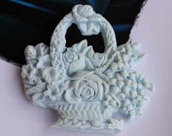 Basket of Flowers Fondant Wedding Favor