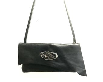 Black Leather Bag, Black Leather Crossbody Bag, Black Leather Handbag