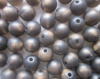 Bronze Colored Acrylic Beads 8mm 20 Beads